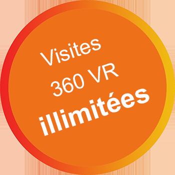 visites 360 VR illimitées